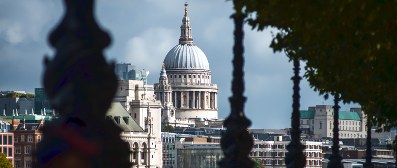 View of St Paul's Cathedral from Southbank
