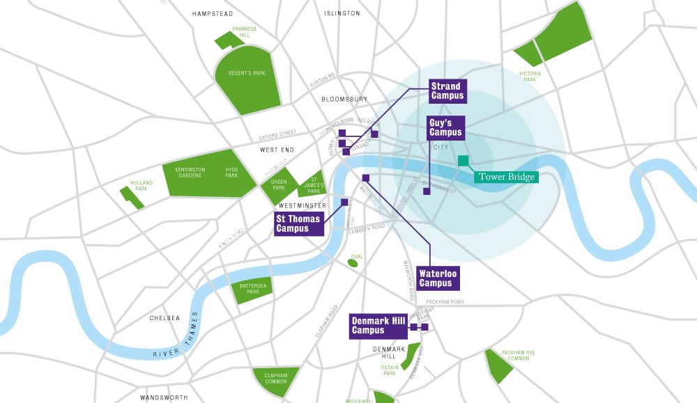 London Bridge Map.Tower Bridge Study At King S King S College London