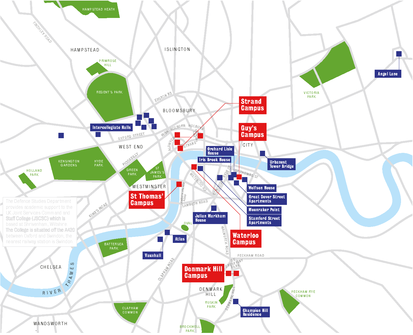 Kings College London Map.Contact Us King S College London