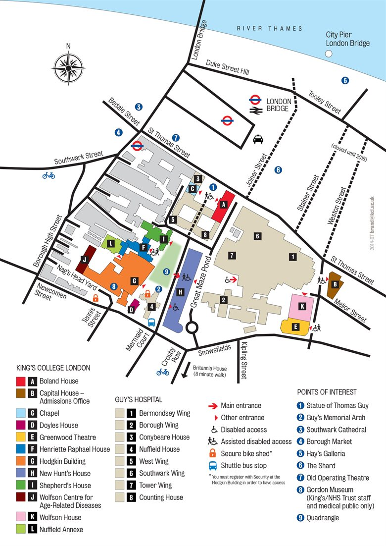 Guy 39 s campus Good house map