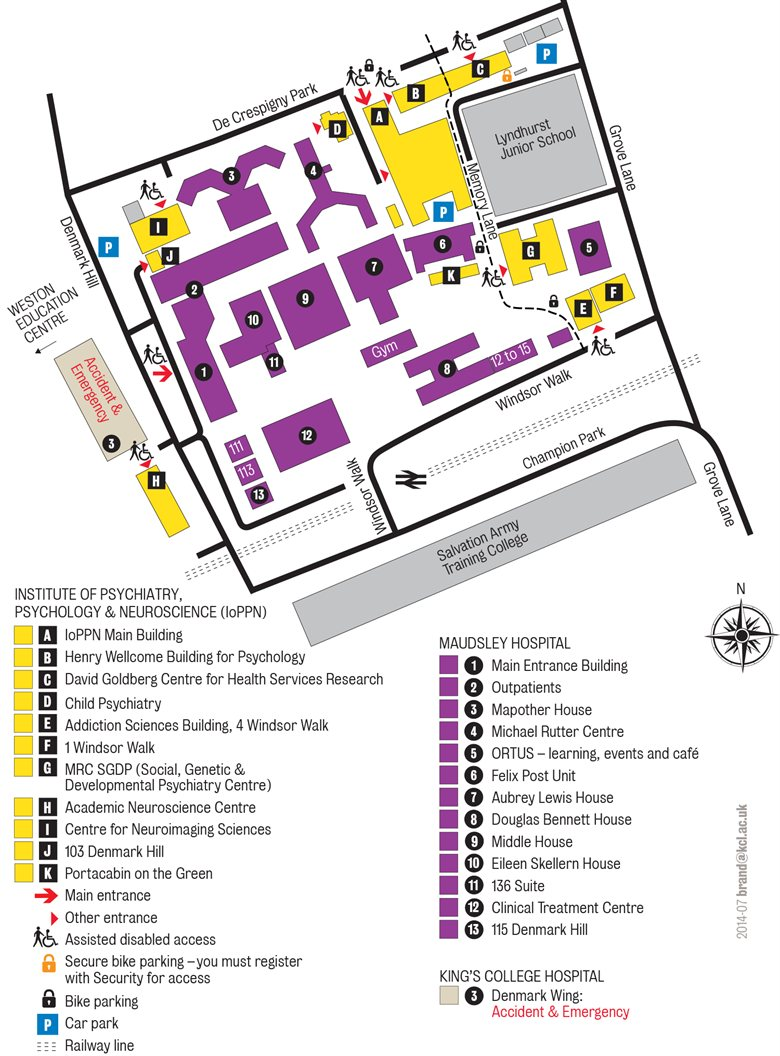 IoPPN detailed map
