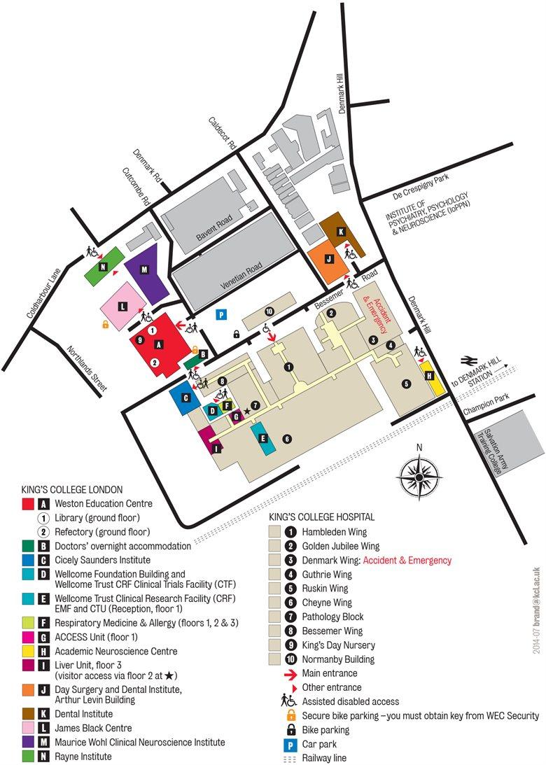 KCH detailed map