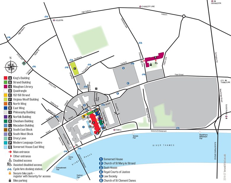 Strand Campus detailed map