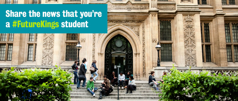 Share the news that you're a #FutureKings student