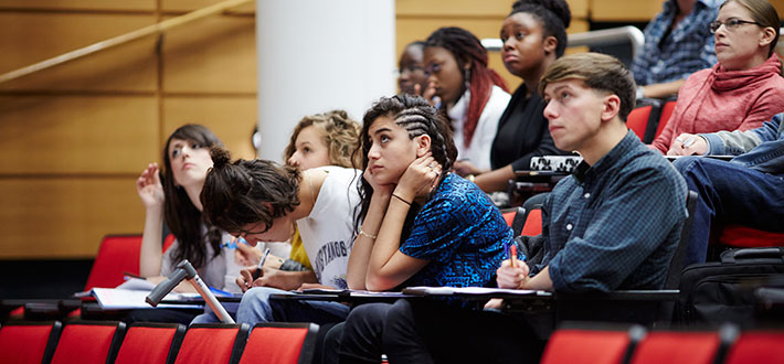King's College London students at a lecture