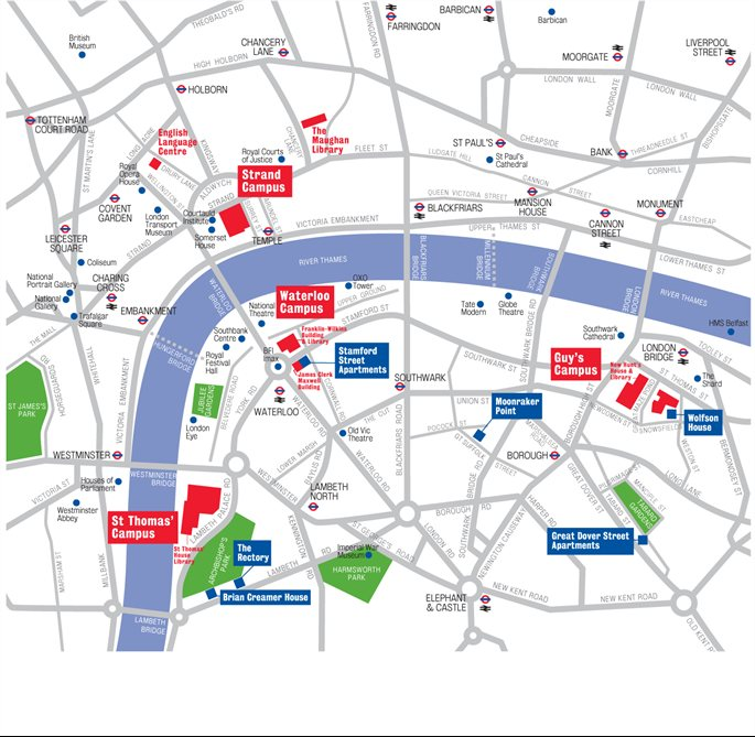 Kings College London Map.King College London Map