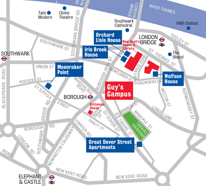 Kings College London Map.King S College London Our Location