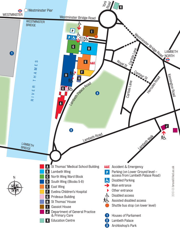 St-Thomas' Campus detailed map