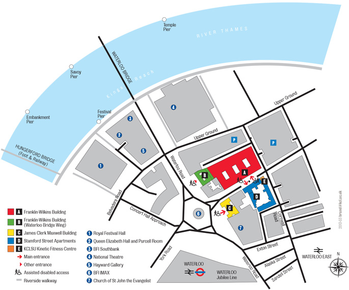 Waterloo Campus detailed map