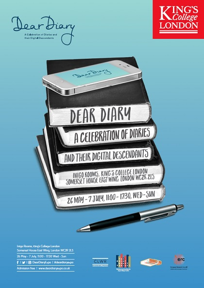 king s college london dear diary a celebration of diaries and