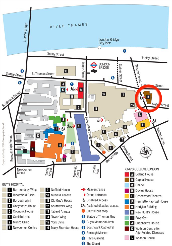 Guys Campus map