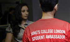 A student ambassador and a new King's student