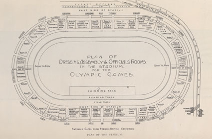 Plan of the stadium for the 1908 Olympic Games
