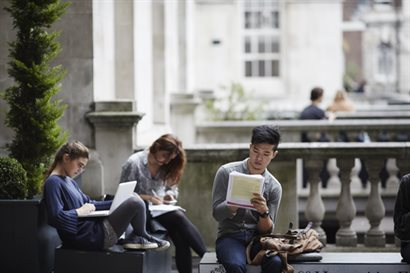 Students at KCL Strand Campus