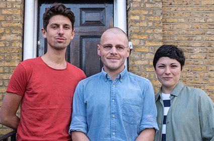 The Philosophy in Prisons team, from left to right: Andy West, Mike Coxhead, Andrea Fassolas