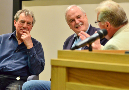 Terry Jones, John Cleese and Richard Burridge at Jesus and Brian