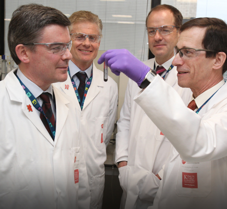 David Cowan in lab