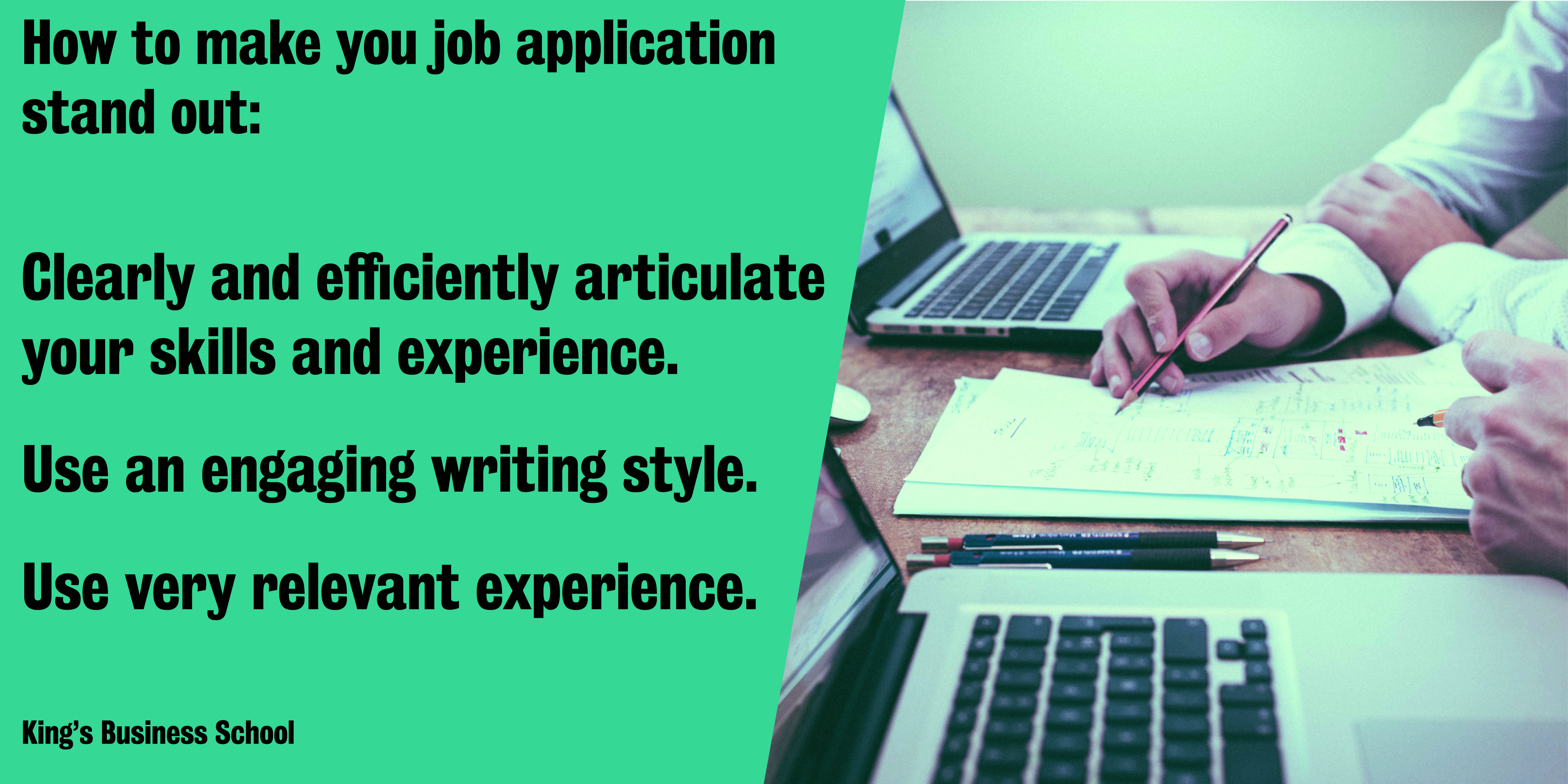 How To Get Your Job Application And Cover Letter Noticed