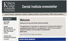 Dental Institute enewsletter