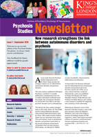 September 2018 Psychosis Studies Newsletter