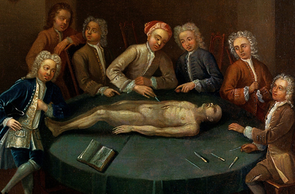Painting of historical dissection