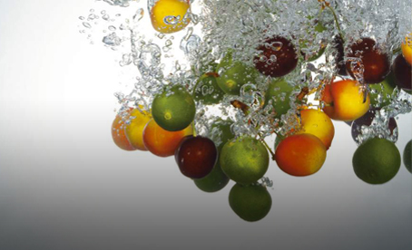 fruit in water