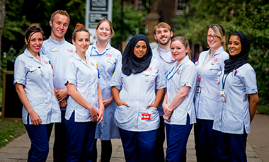 King's Nursing students standing in a group