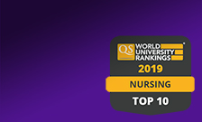 QS World University Rankings by Subject 2019 Nursing Top 10 logo