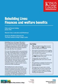 Finance and Welfare Policy and Practice Briefing from the Rebuilding Lives study