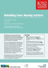 Housing Matters (Rebuilding Lives policy and practice briefing)