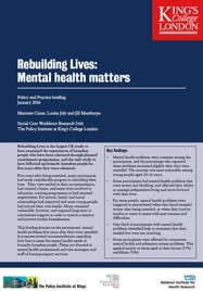 Mental health matters - Policy and Practice Briefing from the Rebuilding Lives study