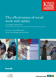 Moriarty & Manthorpe 2016 Effectiveness of social work with adults