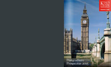 King's College London 2016 postgraduate prospectus