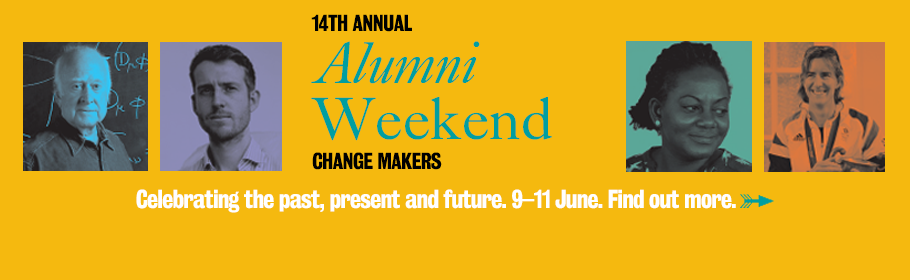 14th annual Alumni Weekend: CHANGE MAKERS. Celebrating the past, present and future. 9–11 June. Find out more.
