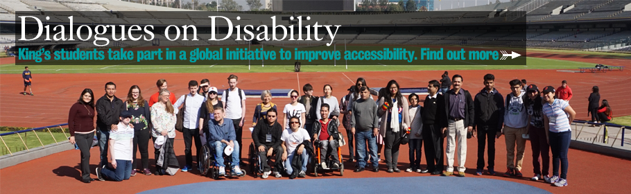 Dialogues on Disability. King's students take part in a global initiative to improve accessibility. Find out more.