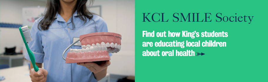 KCL SMILE Society. Find out how King's students are educating local children about oral health.