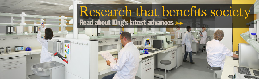 Research that benefits society. Read about King's latest advances.
