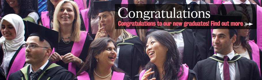 Congratulations. Congratulations to our new graduates! Find out more.