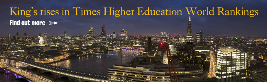 King's rises in Times Higher Education Rankings. Find out more