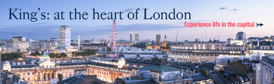 The most central university in London. Experience life in the capital at King's.