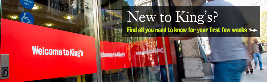 New to King's? Find all you need to know for your first few weeks.