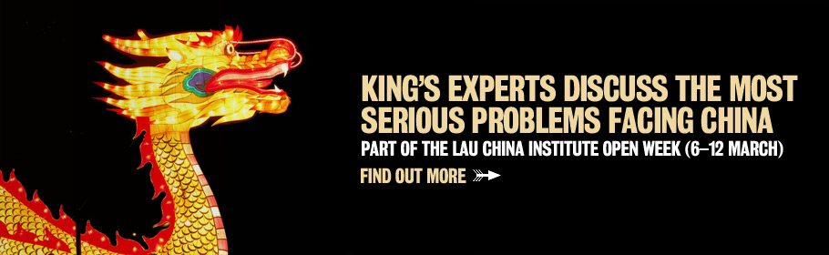 King's experts discuss the most serious problems facing China. Part of the Lau China Institute Open Week (6-12 March). Find out more.