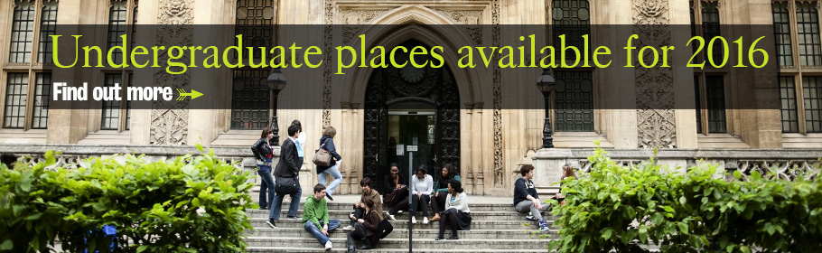 Undergraduate places available for 2016. Find out more.