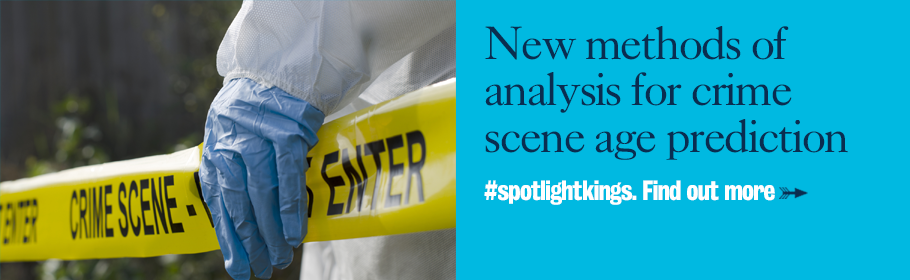 New methods of analysis for crime scene age prediction. #spotlightkings. Find out more.