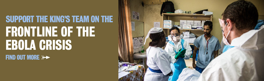 Support the King's team on the frontline of the Ebola crisis. Find out more.