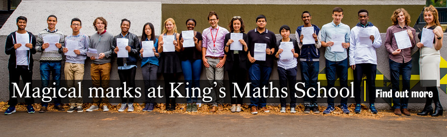 Magical marks at King's Maths School. Find out more.