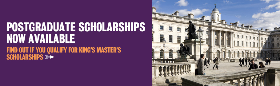 Postgraduate scholarships now available. Find out if you qualify for King's Master's scholarships.