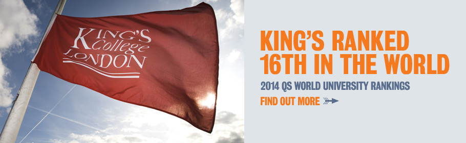 King's ranked 16th in the world. QS world university rankings 2014. Find out more.