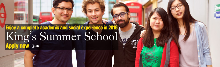 Enjoy a complete academic and social experience in 2016. King's Summer School. Applications open 11 November.