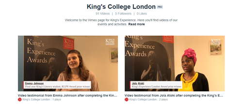 King s College London - King s Experience Awards Ceremony 2017 da74bbc3ccc